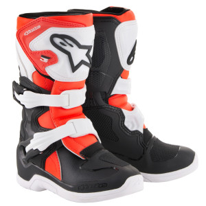 Alpinestars Kids Tech 3S Boots-Black/Red
