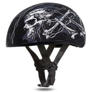 Daytona Skull Cap Skull Chains Half Helmet