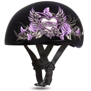 Daytona Women's Skull Cap Wild At Heart Helmet