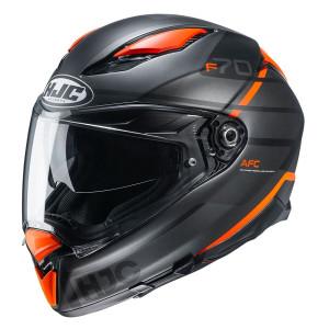 HJC F70 Tino Helmet - Black/Orange