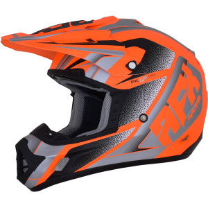 AFX FX-17 Force Neon Helmet-Hi-Viz Orange