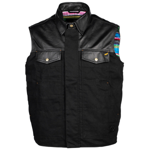 Cortech Bandito Leather Vest-Black