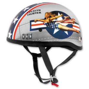 Skid Lid Bomber Pin Up Half Helmet