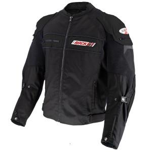 Joe Rocket Dayride Mens Textile Motorcycle Jacket - Black