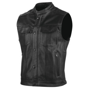 Speed and Strength Mens Band of Brothers Leather Vest