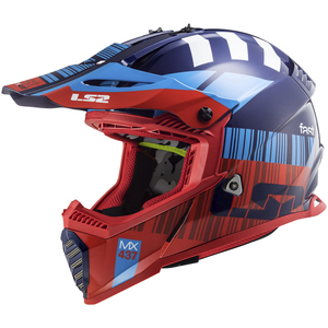 LS2 Gate Xcode Helmet-Blue/Red