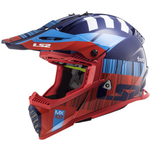 LS2 Youth Gate Xcode Helmet-Blue/Red