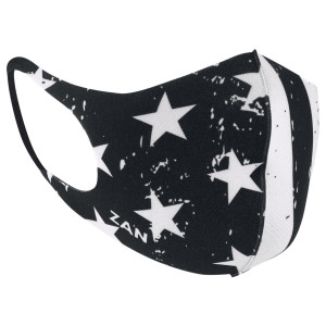 Zan Headgear Lightweight Neoprene Black / White Flag Face Mask