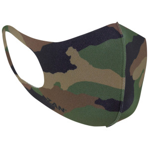 Zan Headgear Lightweight Neoprene Woodland Camo Face Mask