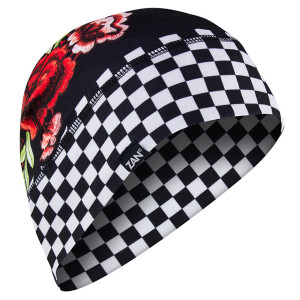 Zan Headgear Sportflex Series Checkered Floral Helmet Liner
