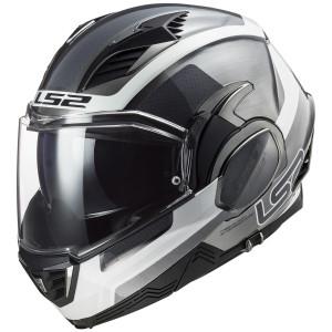 LS2 Valiant II Orbit Modular Helmet-Silver