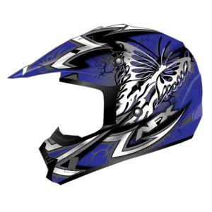 AFX Youth FX-17 Butterfly Helmet-Blue