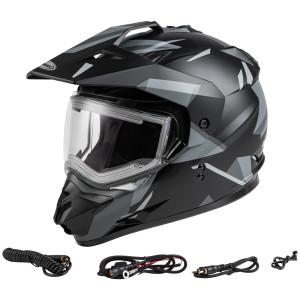 GMax GM-11S Ripcord Adventure Snow Helmet With Electric Shield-Black/Grey