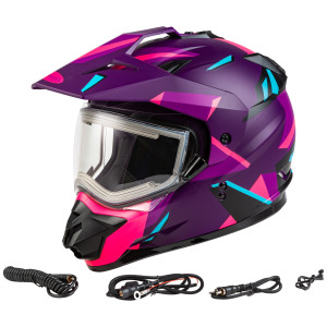 GMax Women's GM-11S Ripcord Adventure Snow Helmet With Electric Shield