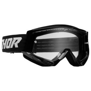 Thor Combat Racer Goggles - Black-White