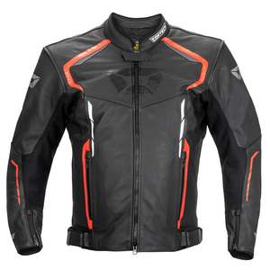 Cortech Speedway Chicane Leather Jacket - Red