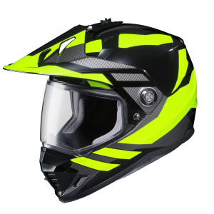 HJC DS-X1 Lander High Visibility Yellow Helmet