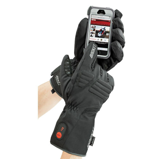 Joe Rocket Rocket Burner Heated Mens Textile Motorcycle Gloves - Detail
