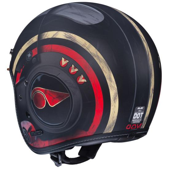 HJC IS-5 Poe Dameron Helmet - Back View