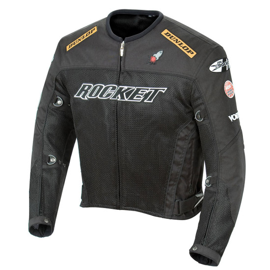 Joe Rocket UFO 2.0 Mens Mesh Motorcycle Jacket - Black