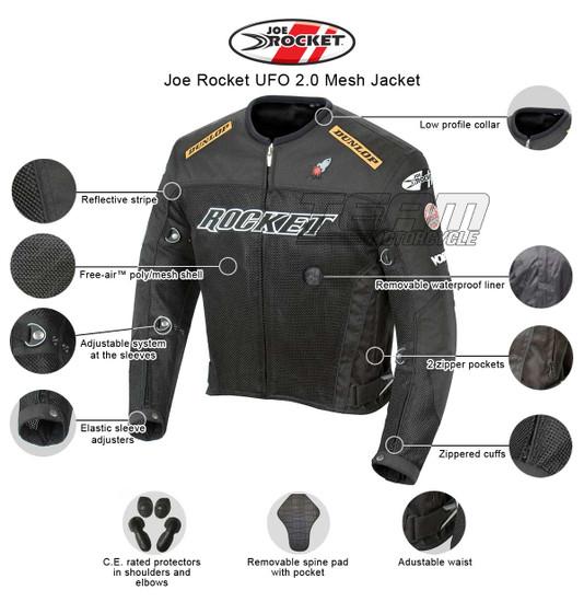 Joe Rocket UFO 2.0 Mens Mesh Motorcycle Jacket
