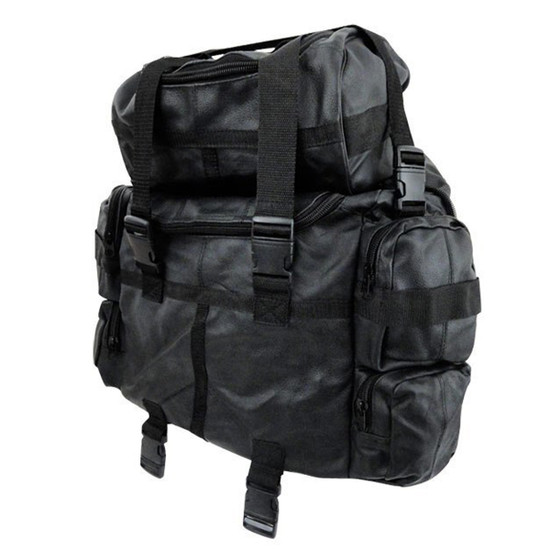 Expandable Leather Motorcycle Sissy Bar Bag