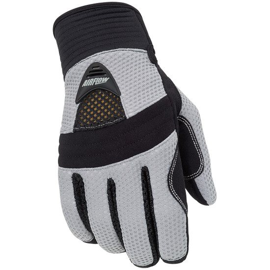 Tour Master Airflow Mesh Gloves - Silver