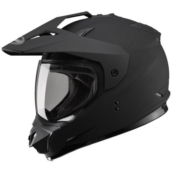GMax GM11D Dual Sport Helmet-Flat Black