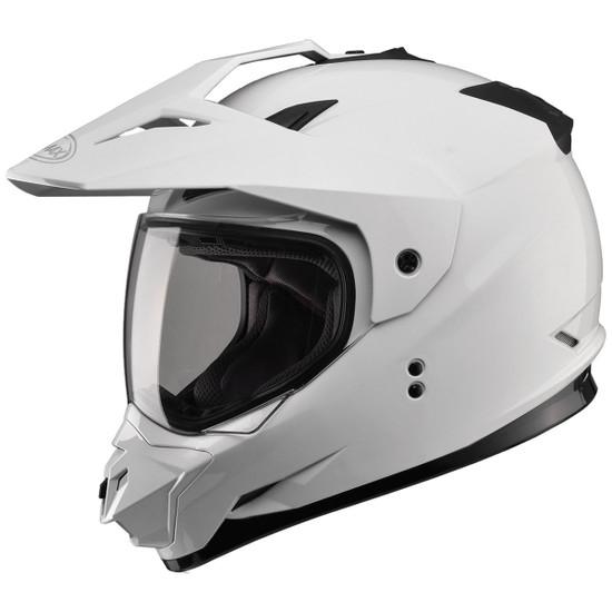 GMax GM11D Dual Sport Helmet-White