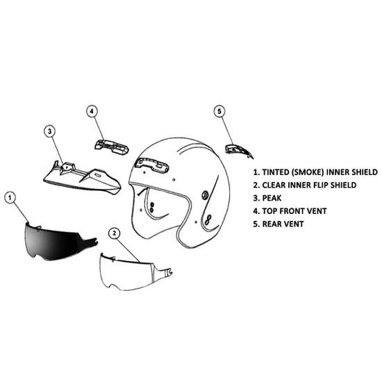 GMax GM32S Open-Face Helmet-Detail View