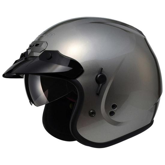 GMax GM32S Open-Face Helmet-Titanium