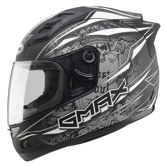 Gmax GM69 Mayhem Helmet-White