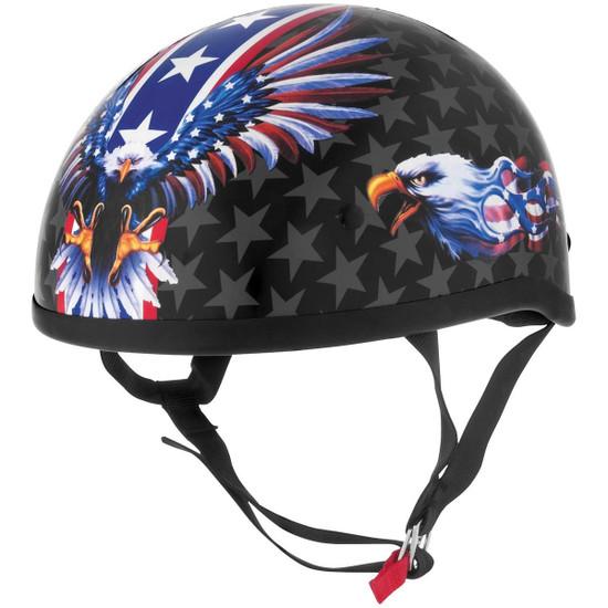 Skid Lid USA Flame Eagle Half Helmet