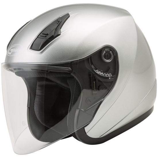 GMax OF17 Open Face Helmet - Silver