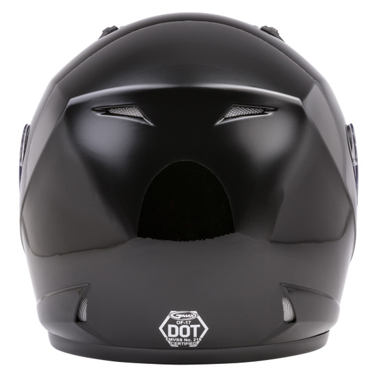 GMax OF17 Open Face Helmet - Black Back View