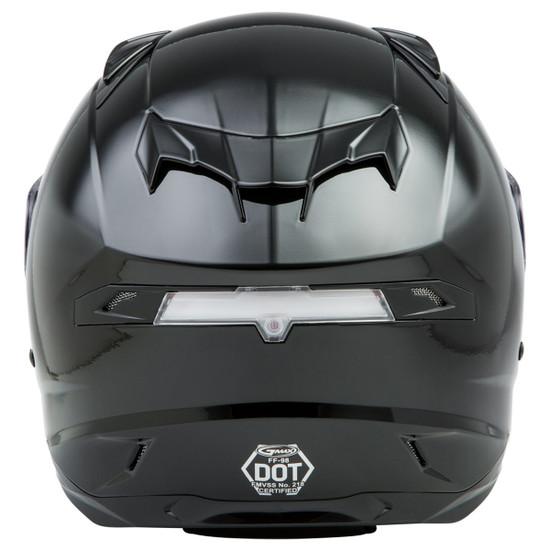 Gmax FF98 Helmet - Black Back View