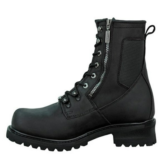 Mens Milwaukee Motorcycle Clothing Company MMCC Trooper Motorbike Biker Riding Black Leather Boots