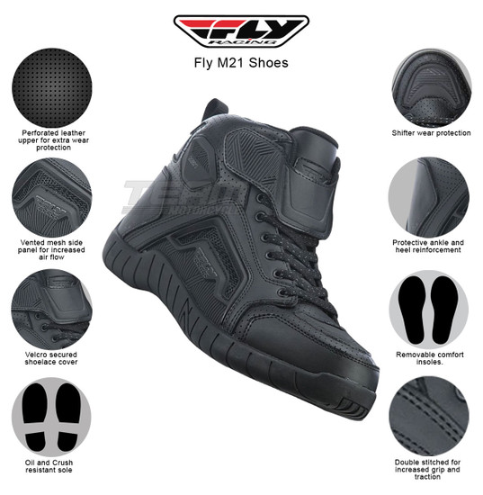 Fly M21 Shoes - Infographics