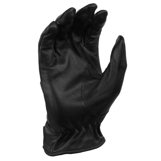 Vance VL440 Mens Black Unlined Leather Driving Gloves - Palm View