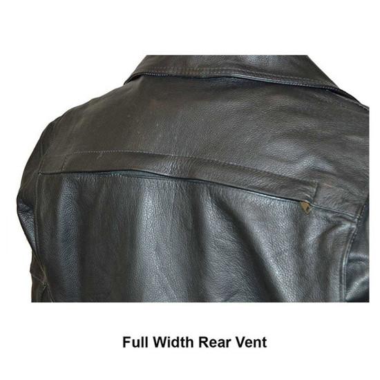 Vance VL509 Men's Functional Pockets Black Premium Cowhide Biker Cruiser Jacket - Detail