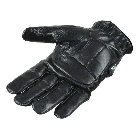 Vance GL2091 Mens Black Gel Palm Leather Driving Gloves - Palm View