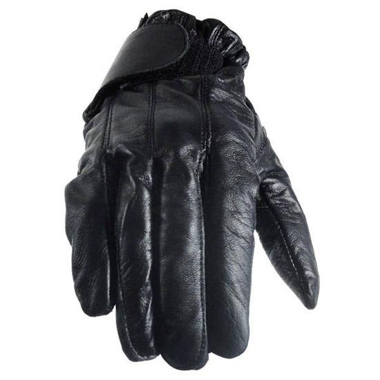 Vance GL2091 Mens Black Gel Palm Leather Driving Gloves
