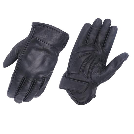 Vance VL475 Mens Black Gel Palm Riding Leather Gloves