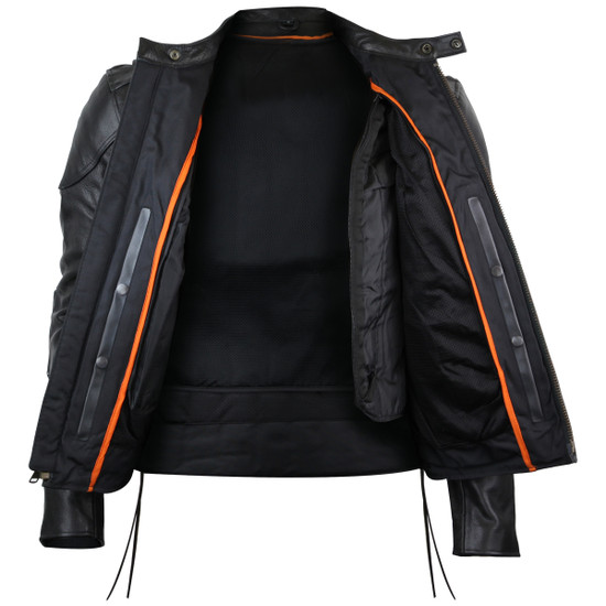 Vance Leathers Cowhide Leather Fully Lined Racer Jacket