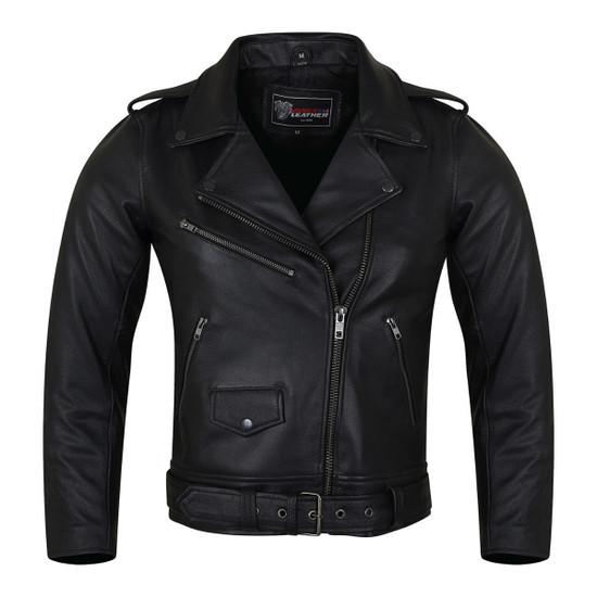 Vance VL516S Black Classic Motorcycle Leather Biker Jacket
