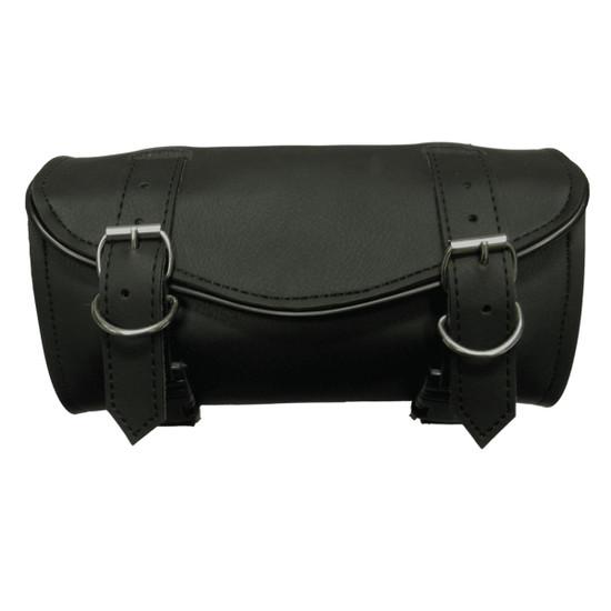 Vance VS104H Black Two Strap Motorcycle Toolbag Handlebar Bag
