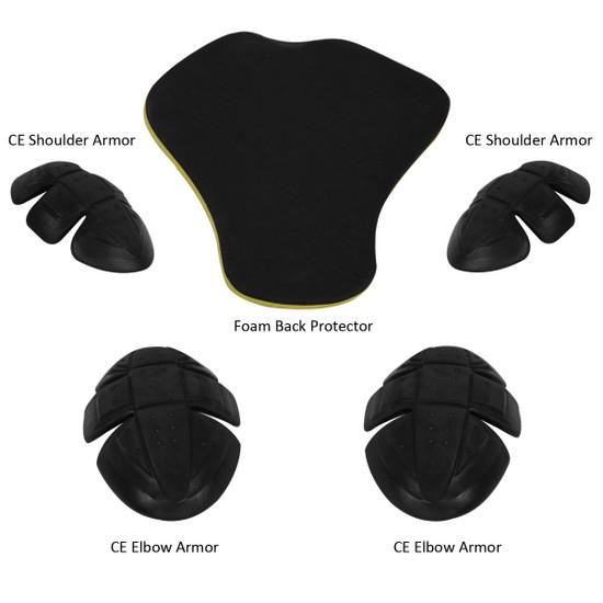 Advanced Vance VL1624HG Mens All Weather Season CE Armor Mesh Motorcycle Jacket - Armor