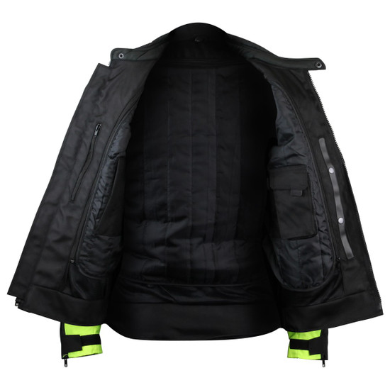 Advanced Vance VL1624HG Mens All Weather Season CE Armor Mesh Motorcycle Jacket - Inner View