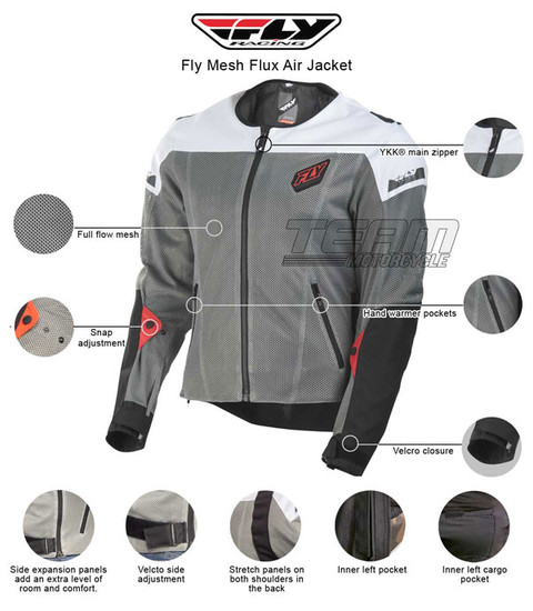 Fly Mesh Flux Air Jacket - Infographics