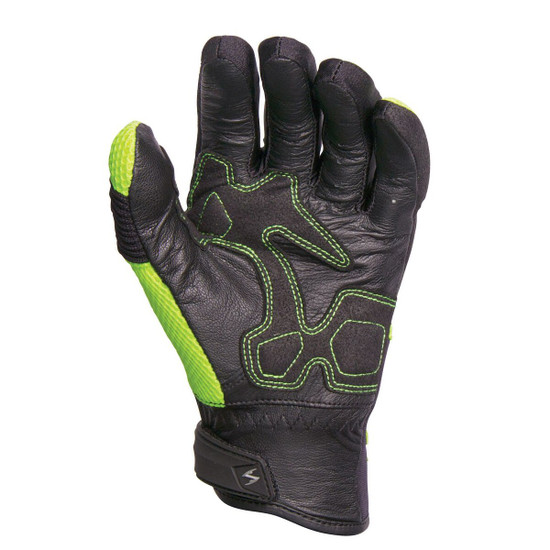 Scorpion Coolhand II Motorcycle Gloves - Neon Palm View